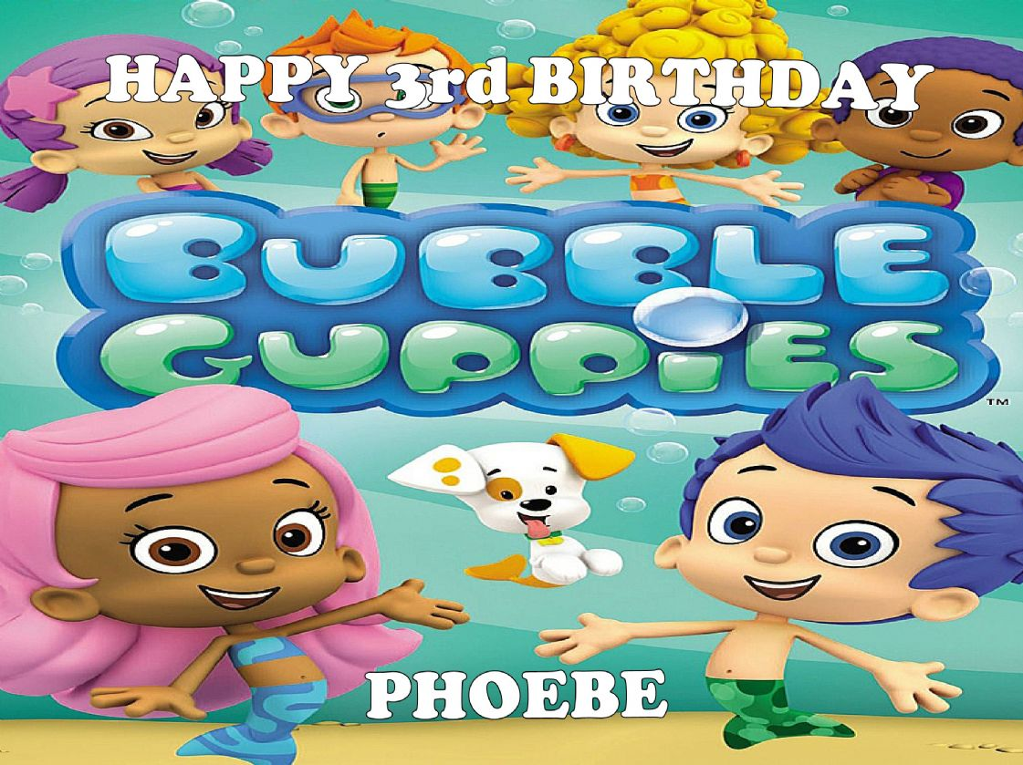 Bubble Guppies Cake Toppers Uk
